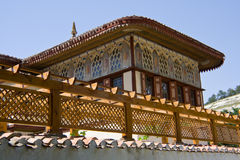 Views of the Golden Cabinet outside. The Khan's Palace in Bakhchisaray, Crimea Stock Image