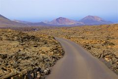 Timanfaya national park in Lanzarote, Canary islands Royalty Free Stock Photos