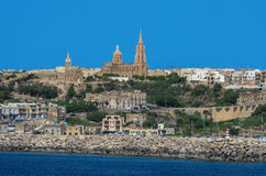 Malta - Gozo, Mgarr. A view of of Mgarr on the island of Gozo, the main harbour and the point of arrival for ferries from mainland of Malta Royalty Free Stock Images