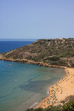 Malta - Gozo, Ramla Bay. View over the Ramla Bay, fine sandy beach on the north coast of Gozo, Malta Royalty Free Stock Images