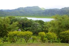 Grand Etang lake, Grenada, Caribbean. Views of Grand Etang lake, Grenada, Caribbean stock photography
