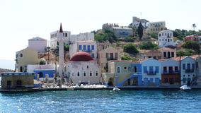 Views from the greek islands. Greek views of the island, blue and white colors dominate royalty free stock photos