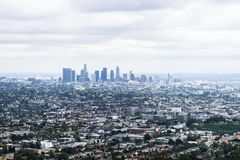 Views from Griffith Observatory over Los Angeles, USA stock photography