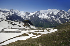 Views of the grossglockner High Alpine Road Royalty Free Stock Photo