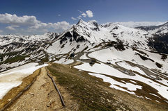 Views of the grossglockner High Alpine Road Royalty Free Stock Images