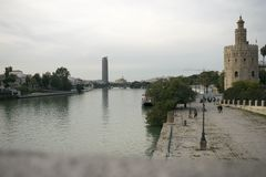 Guadalquivir river. Views of the Guadalquivir River royalty free stock image