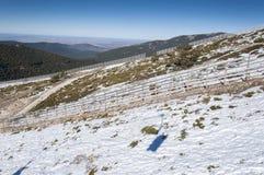 Views of Guadarrama Mountains Royalty Free Stock Photo