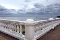 Views of the Gulf of Finland (the Baltic Sea) in Pertergof, Saint-Petersburg Stock Image