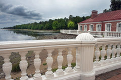 Views of the Gulf of Finland in Pertergof, Saint-Petersburg Royalty Free Stock Photography