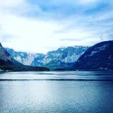 Views of Hallstatt Austria. Afternoons by the lake in Hallstatt Royalty Free Stock Photo