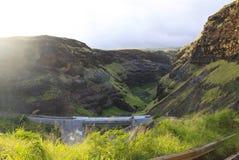 Views on the Hana Highway. Beautiful gorge on the Hana Highway. Hawaii. Maui. April Stock Photography