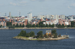 Views of Helsinki from the Baltic Sea Royalty Free Stock Photography