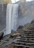 Views hiking along the Mist Trail up to Vernal Fall, Yosemite Stock Photo