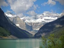 Views hiking around Lake Louise, Lakeview trail, Plain of six glaciers, Lake Agnes, Mirror Lake, Little and Big Beehive, Banff Nat Stock Photography