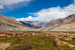 The views in the Himalayas Stock Photo