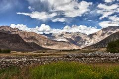 The views in the Himalayas Royalty Free Stock Images