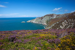 Views from Holyhead Mountain Stock Image