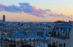 Views in the hotel room in Paris stock image