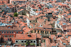 Views of the houses Venice with red tile roofs Stock Photography