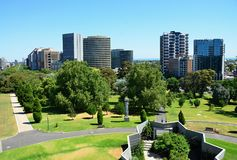 The impressive suburb of Melbourne  Interesting buildings. Views of The impressive suburb of Melbourne Royalty Free Stock Photos