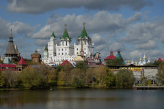 Views of the Izmailovo castle with water Stock Photo