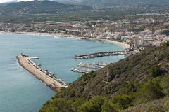 Views of Javea town Stock Image