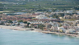 Views of Javea town Stock Image
