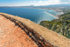 Views of Javea town from San Antonio Cape Royalty Free Stock Image