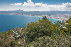 Views of Javea town from San Antonio Cape Stock Photos