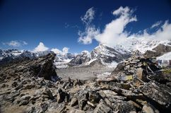 Views from Kala Pattar in the Everest. Base camp trek in Nepal Royalty Free Stock Photo