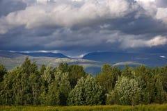 Views of the Khibiny mountains. Kola Peninsula,. Russia Royalty Free Stock Photo