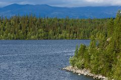 Views of the Khibiny mountains. Photographed on lake Imandra, Ko. La Peninsula, Russia Stock Photography