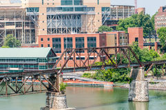 Views of Knoxville Tennessee downtown on sunny day Royalty Free Stock Photos