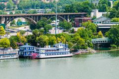 Views of Knoxville Tennessee downtown on sunny day Royalty Free Stock Photo