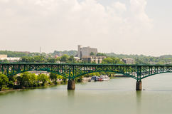 Views of Knoxville Tennessee downtown on sunny day Royalty Free Stock Images