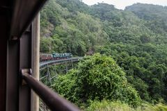 Kuranda Scenic Railway. Views from the Kuranda Scenic Railway, as it climbs the hill to Kuranda. Near Cairns, Australia stock photography