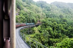 Kuranda Scenic Railway. Views from the Kuranda Scenic Railway, as it climbs the hill to Kuranda. Near Cairns, Australia royalty free stock photos