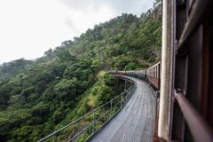 Kuranda Scenic Railway. Views from the Kuranda Scenic Railway, as it climbs the hill to Kuranda. Near Cairns, Australia stock images