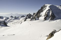 Views from l 'Aiguille du Midi Stock Photos