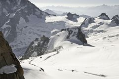 Views from l 'Aiguille du Midi Royalty Free Stock Image