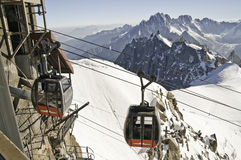 Views from l 'Aiguille du Midi Stock Photo