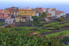 Views of La Gomera island, Canaries. La Gomera- mountains, views, panoramas, Canary islands - Agulo stock photo