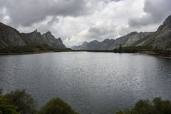 Views of Lago del Valle, in Somiedo Nature Reserve Stock Image
