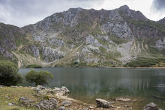 Views of Lago del Valle, in Somiedo Nature Reserve Stock Photography