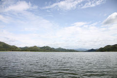 Views of the lake in Thailand. Royalty Free Stock Photo