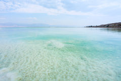 Views landscapes of pure Dead Sea. In Israel Royalty Free Stock Image