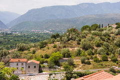 Views of Languedoc-Roussillon from village Eus, France Stock Photos