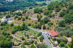 Views of Languedoc-Roussillon from village Eus, France Royalty Free Stock Photo