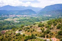 Views of Languedoc-Roussillon from village Eus, France. Views of Languedoc-Roussillon from village Eus stock photos