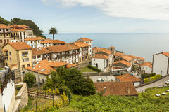 Views of Lastres sailor coastal village in Asturias Stock Photos